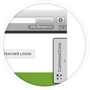 Common Core Widget and Resource Pins Bookmarklet